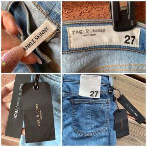 rag & bone Jeans - NWT Rag & Bone Ankle Skinny Light Wash Jeans